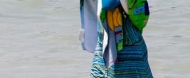 Bildegende im Tages-Anzeiger-Style: Frau im Burkini
