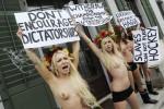 FEMINISTINNEN, AKTIVISTINNEN, FRAUENRECHTE, AKTIVISTEN GRUPPE FEMEN, NACKT,