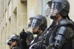 Machen diese Tage ordentlich Überstunden: Polizisten in Brüssel.
